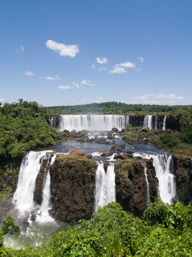 brazil faller iguassuen arkivbild