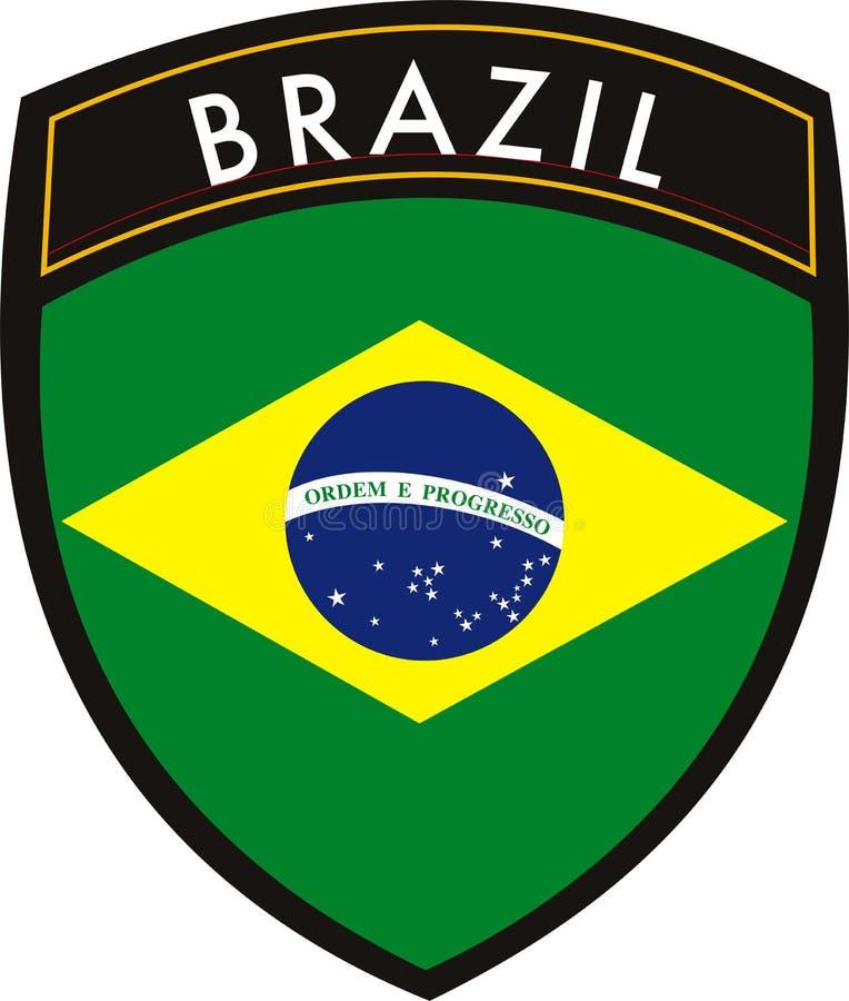 Brazil flag stock illustration