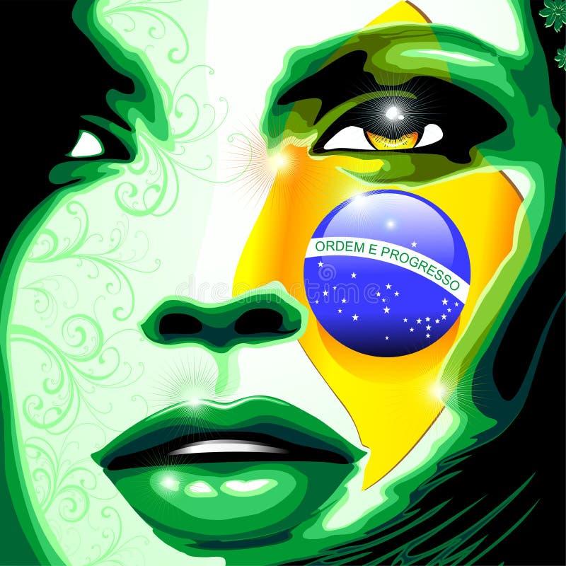Free Brazil Flag Beautiful Girl Portrait Royalty Free Stock Photo - 120578265