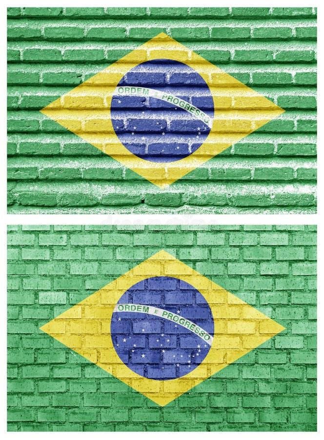 Download Brazil Flag On Different Brick Walls Stock Illustration - Illustration of view, brazil: 27202822