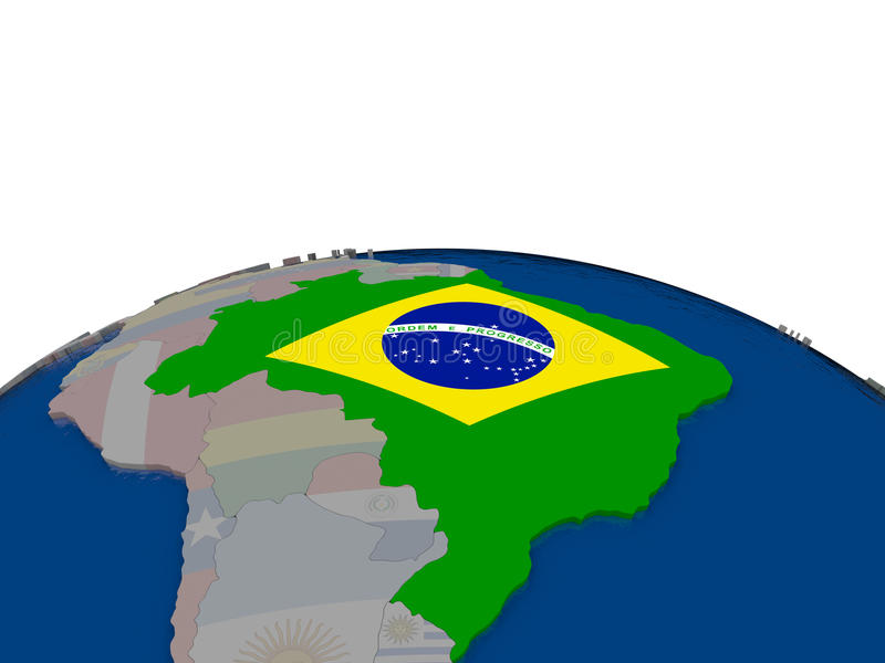 Download Brazil with flag stock illustration. Image of borders - 83716532
