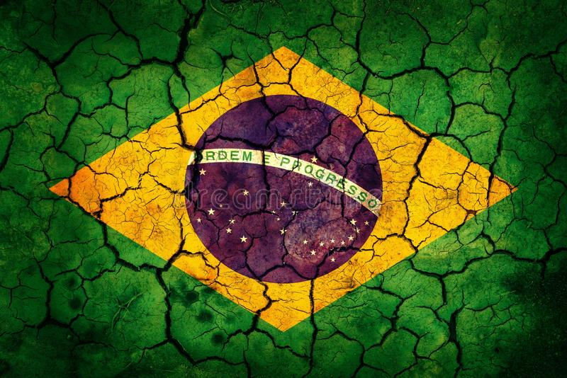 Download Brazil flag stock image. Image of calamity, cracked, abstraction - 31677155