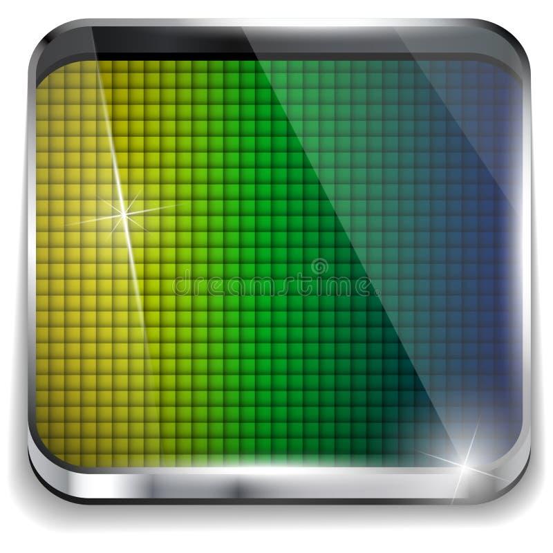 Brazil Flag Square Yellow Green Blue Background stock illustration