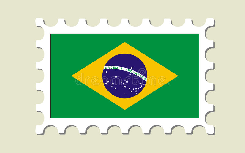 Download Brazil Flag Stamp Royalty Free Stock Photography - Image: 7533877