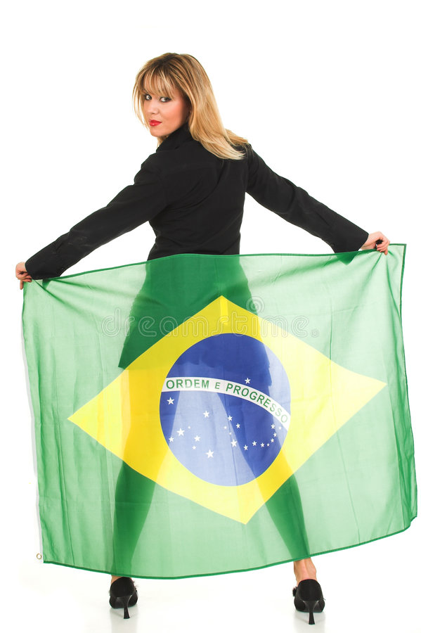 brazil flaga zdjęcia royalty free