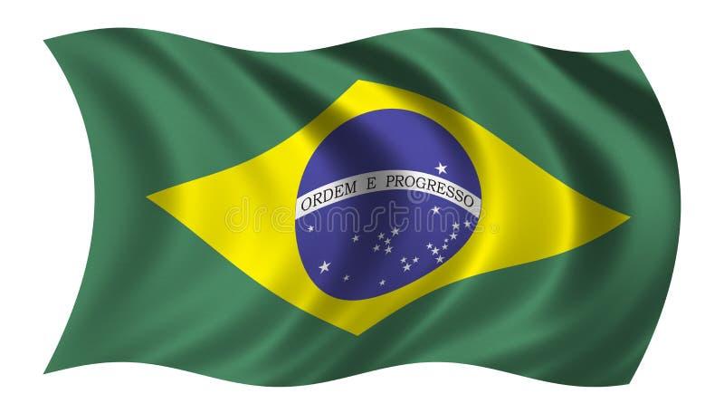 brazil flagga vektor illustrationer