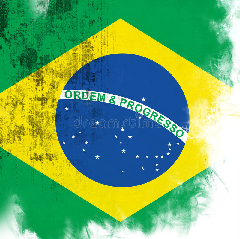 brazil flagga royaltyfri illustrationer