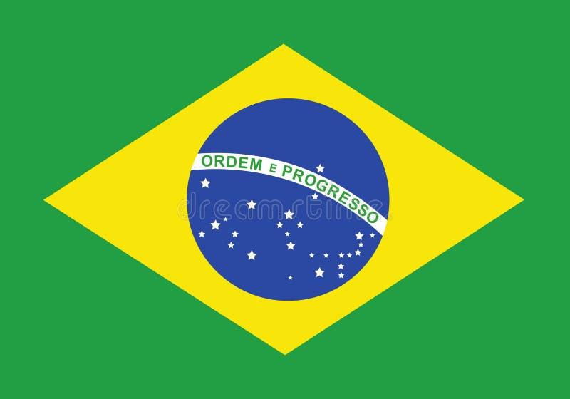 brazil flagga royaltyfri illustrationer