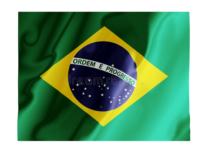 Download Brazil fluttering stock illustration. Illustration of patriotism - 4825249