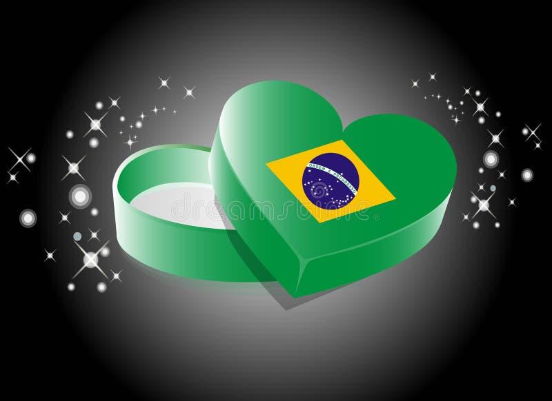 Brazil Heart Shape Gift Box Royalty Free Stock Photos