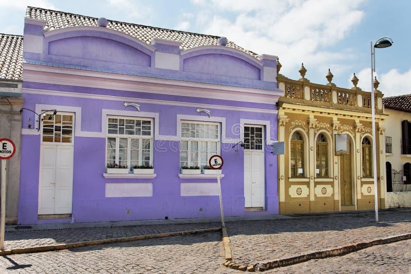 brazil historisk huslaguna purple royaltyfria foton