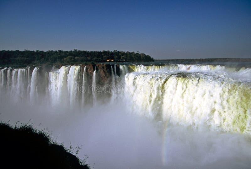 brazil iguazuvattenfall royaltyfri bild