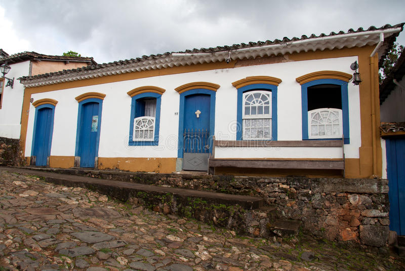 brazil kolonisty domu tiradentes fotografia royalty free