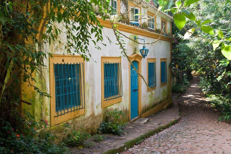 brazil kolonisty domu tiradentes typowi fotografia royalty free