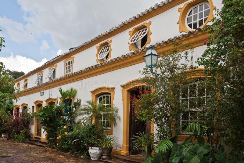 brazil kolonisty domu tiradentes typowi obrazy royalty free