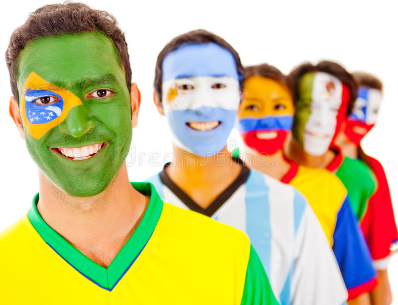 Download Brazil leading a team stock image. Image of latin, guys - 24328317
