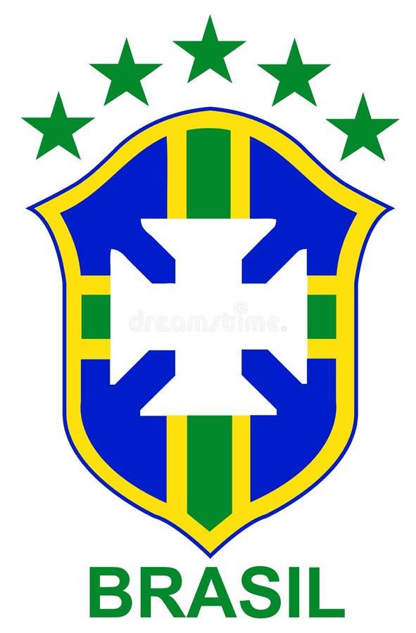 brazil logofotboll stock illustrationer