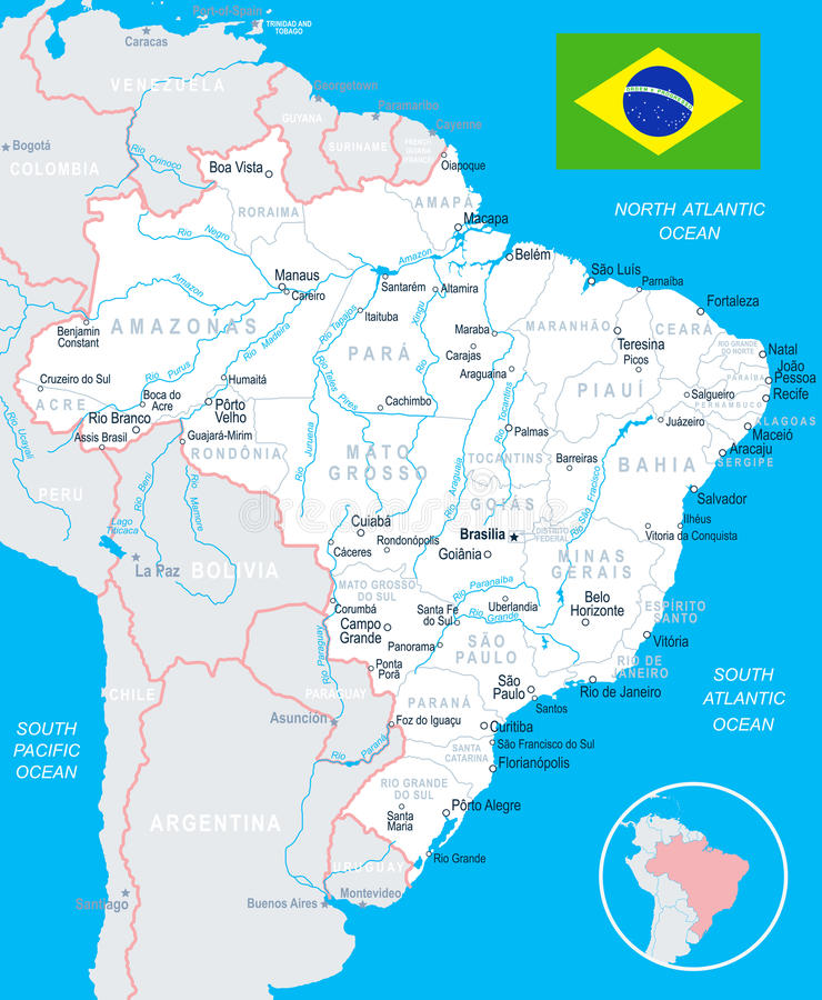 Brazil map and flag illustration stock illustration download brazil map and flag illustration stock illustration illustration of regions paulo gumiabroncs Gallery
