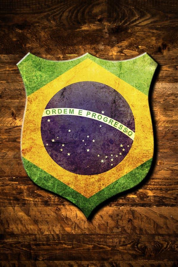 brazil metallsköld vektor illustrationer