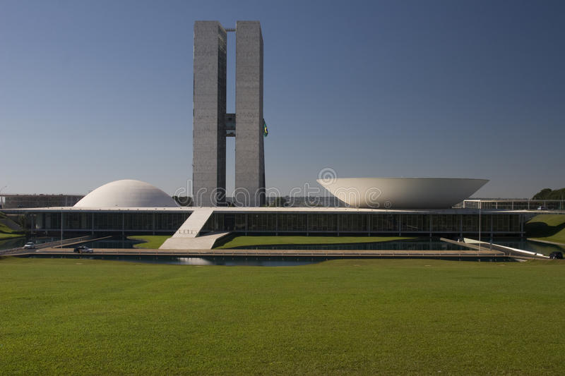 Download Brazil National Congress In Brasilia Stock Image - Image of architecture, niemeyer: 10287491