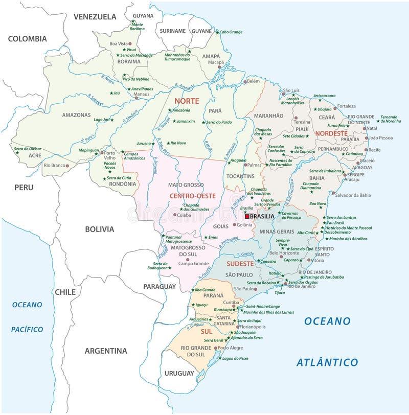 Brazil national park map stock illustration Illustration of