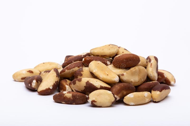 A heap of Brazil Nuts royalty free stock images
