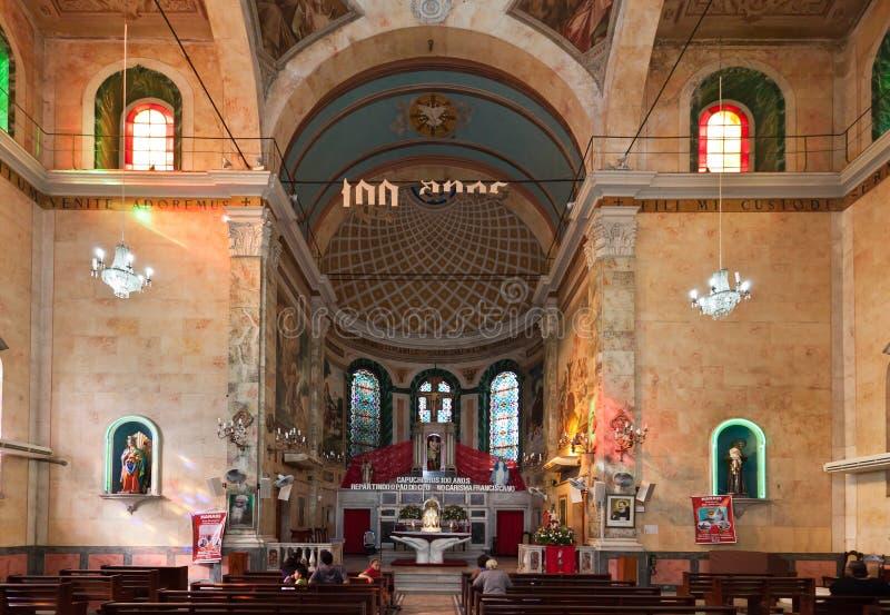 brazil ołtarzowa katedra Manaus zdjęcia stock