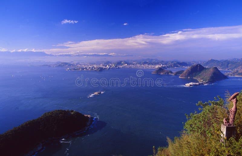 Brazil: Panoramic view of Rio de Janeiro City royalty free stock image