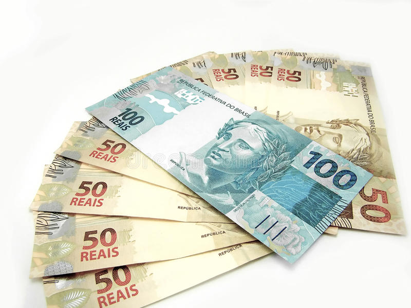 brazil pengar arkivfoton
