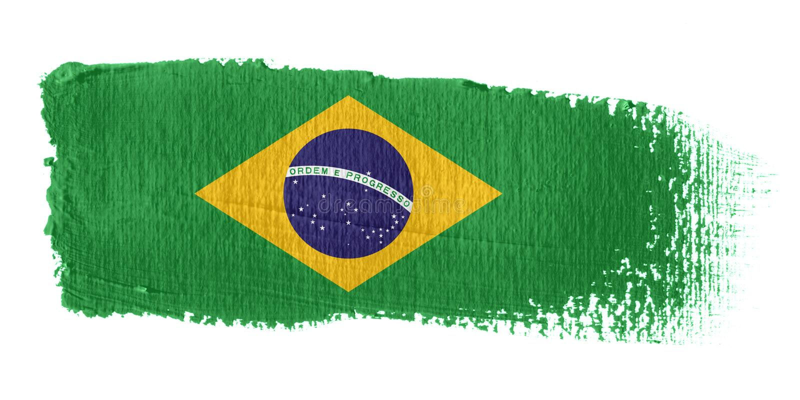 brazil penseldragflagga