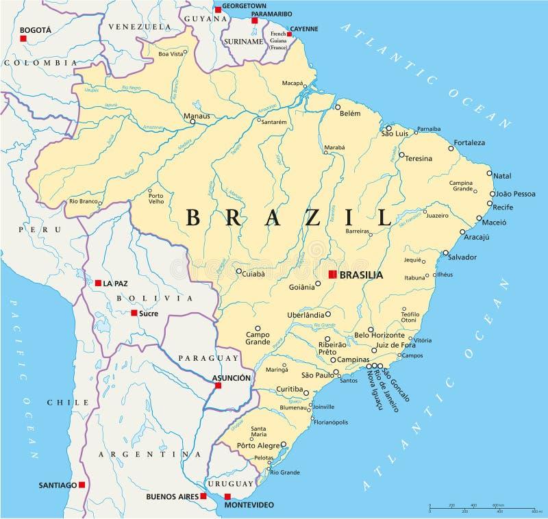 Brazil Political Map stock vector Illustration of belem 102791790