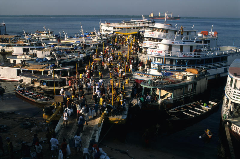 brazil port Manaus fotografia stock
