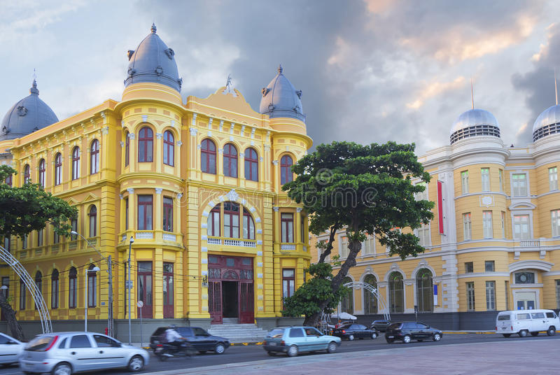Brazil. Recife. This is the historic center of Recife, located near the harbor. Here the buildings of the XVII century Dating back to the Dutch and Portuguese stock image