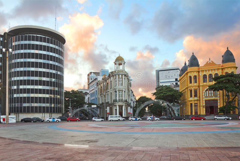 Brazil. Recife. This is the historic center of Recife, located near the harbor. Here the buildings of the XVII century Dating back to the Dutch and Portuguese stock images