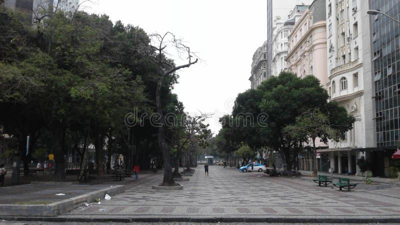 Brazil - Rio de Janeiro - Downtown - Cinelandia - Praca Floriano - Square - Buildings - Business. Cinelandia downtown Rio de Janeiro Brazil. Beautiful old stock image