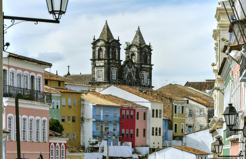 Brazil, Salvador de Bahia, Pelourinho. Pelourinho, district in Salvador de Bahia (Brazil stock photography
