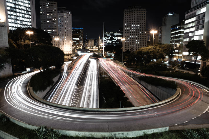 Brazil - Sao Paulo Rush Hour. Rush hour in the Financial District of sao paulo stock photos