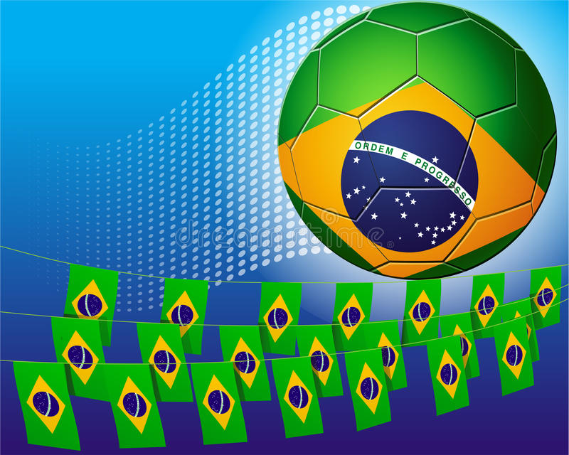 Download Brazil Soccer Football Decorated With Flags Of Bra Stock Illustration - Image: 25421619
