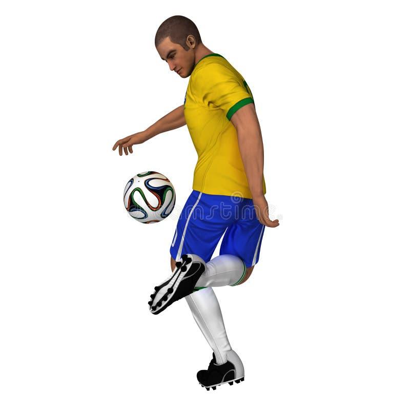 Brazil - Soccer Player stock illustration