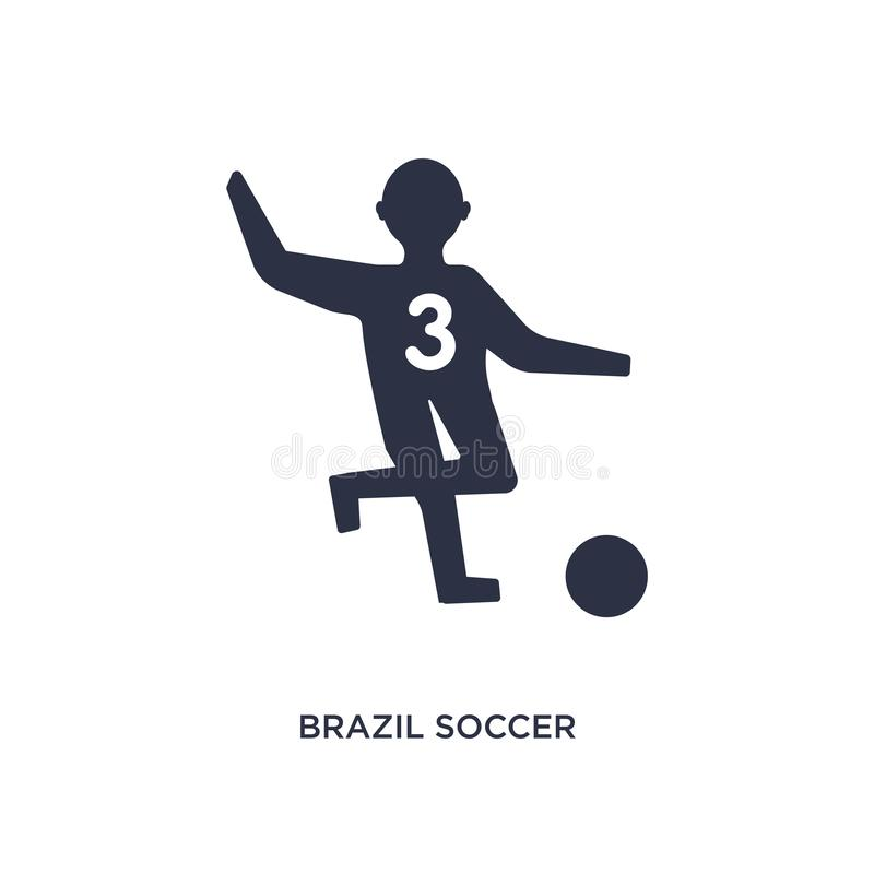 Brazil soccer player icon on white background. Simple element illustration from culture concept. Brazil soccer player icon. Simple element illustration from vector illustration