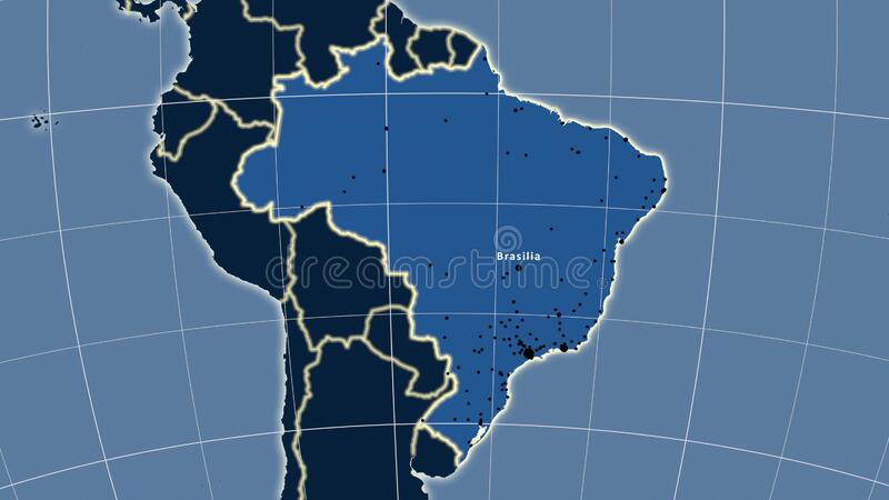 what ocean forms a coastal border with brazil