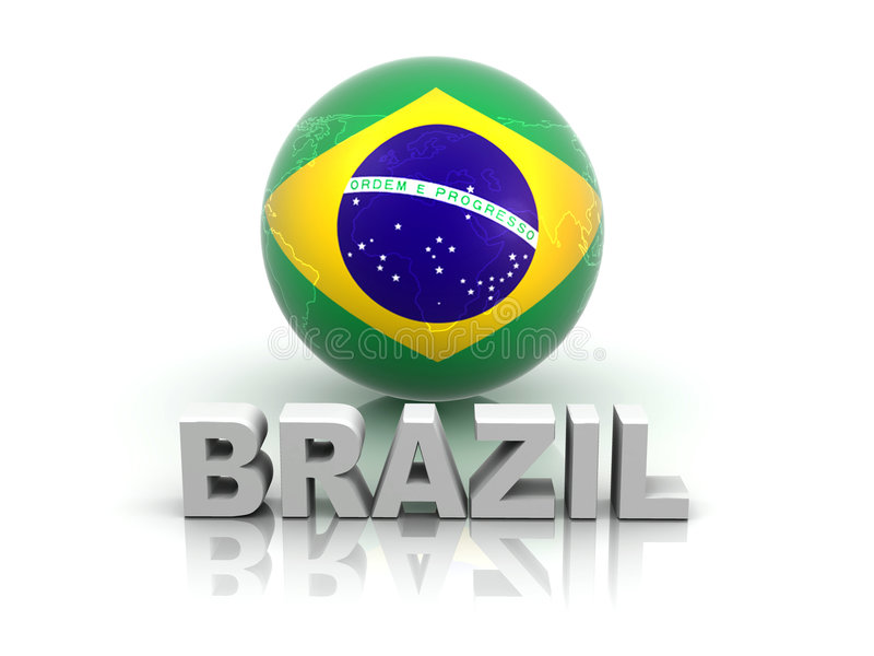 brazil symbol vektor illustrationer