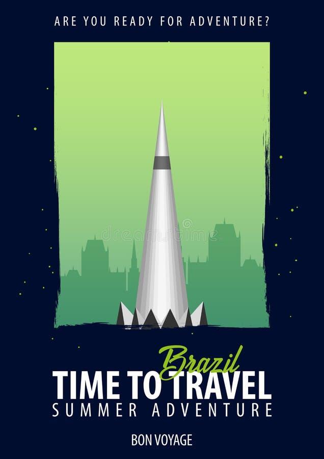 brazil Tempo di viaggiare Viaggio, viaggio, vacanza La vostra avventura Bon Voyage royalty illustrazione gratis