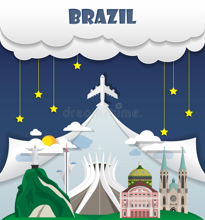 Free Brazil Travel Background Landmark Global Travel And Journey Info Royalty Free Stock Photography - 92689027