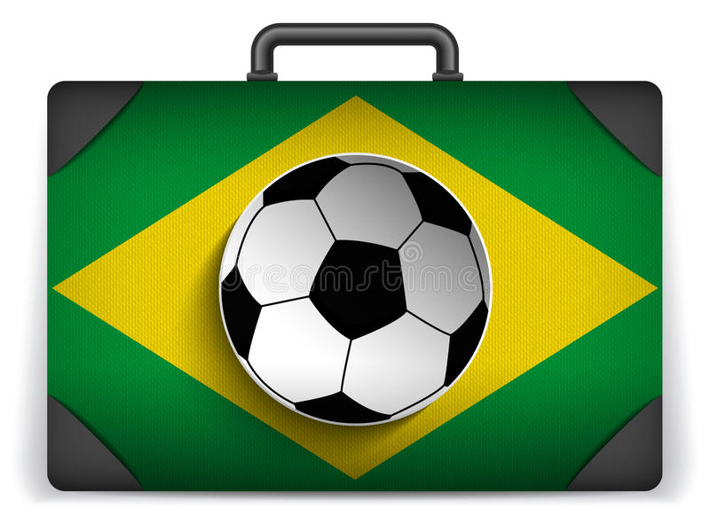 Download Brazil Travel Luggage With Flag For Vacation Stock Vector - Image: 39789582