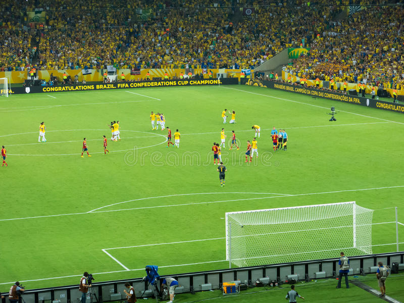 Brazil vs Spain - FIFA Confed Cup 2013 stock image