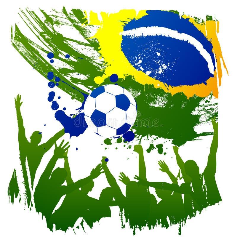 brazil vektorworldcup royaltyfria bilder