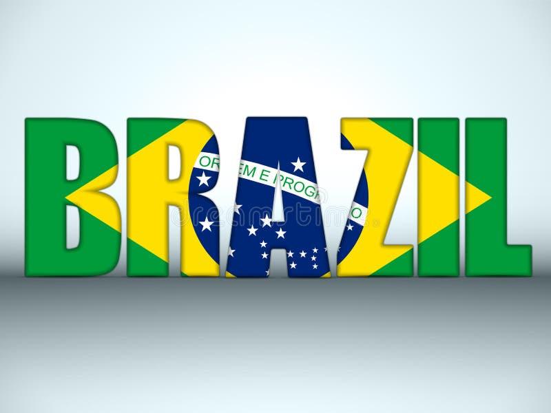 Brazilië 2014 Brieven met Braziliaanse Vlag vector illustratie