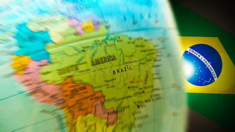 Brazilië Dat De Achtergrond Van Het Stadium Van Het Centrum Neemt Royalty-vrije Stock Foto