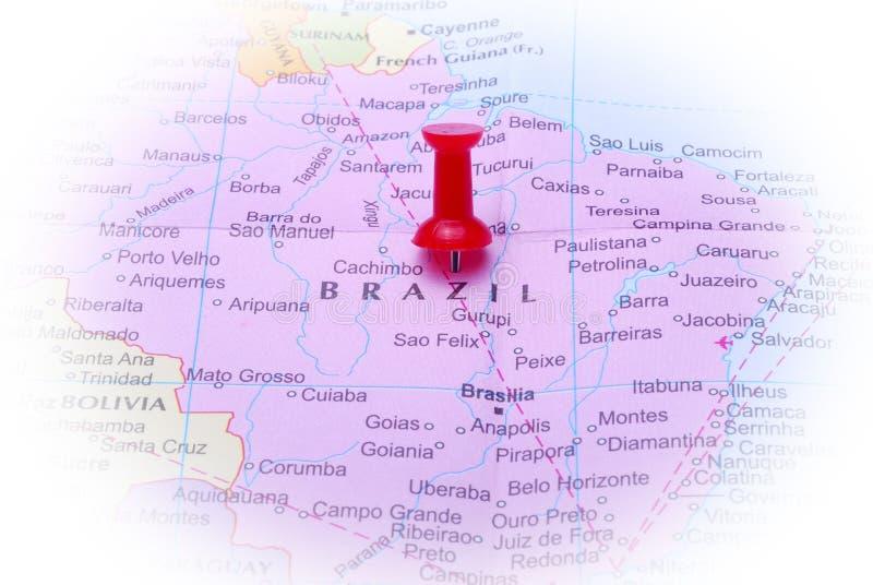 Brazilië in kaart royalty-vrije stock foto